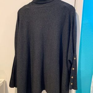 Joseph A long sleeve , Tuttle neck poncho/sweater